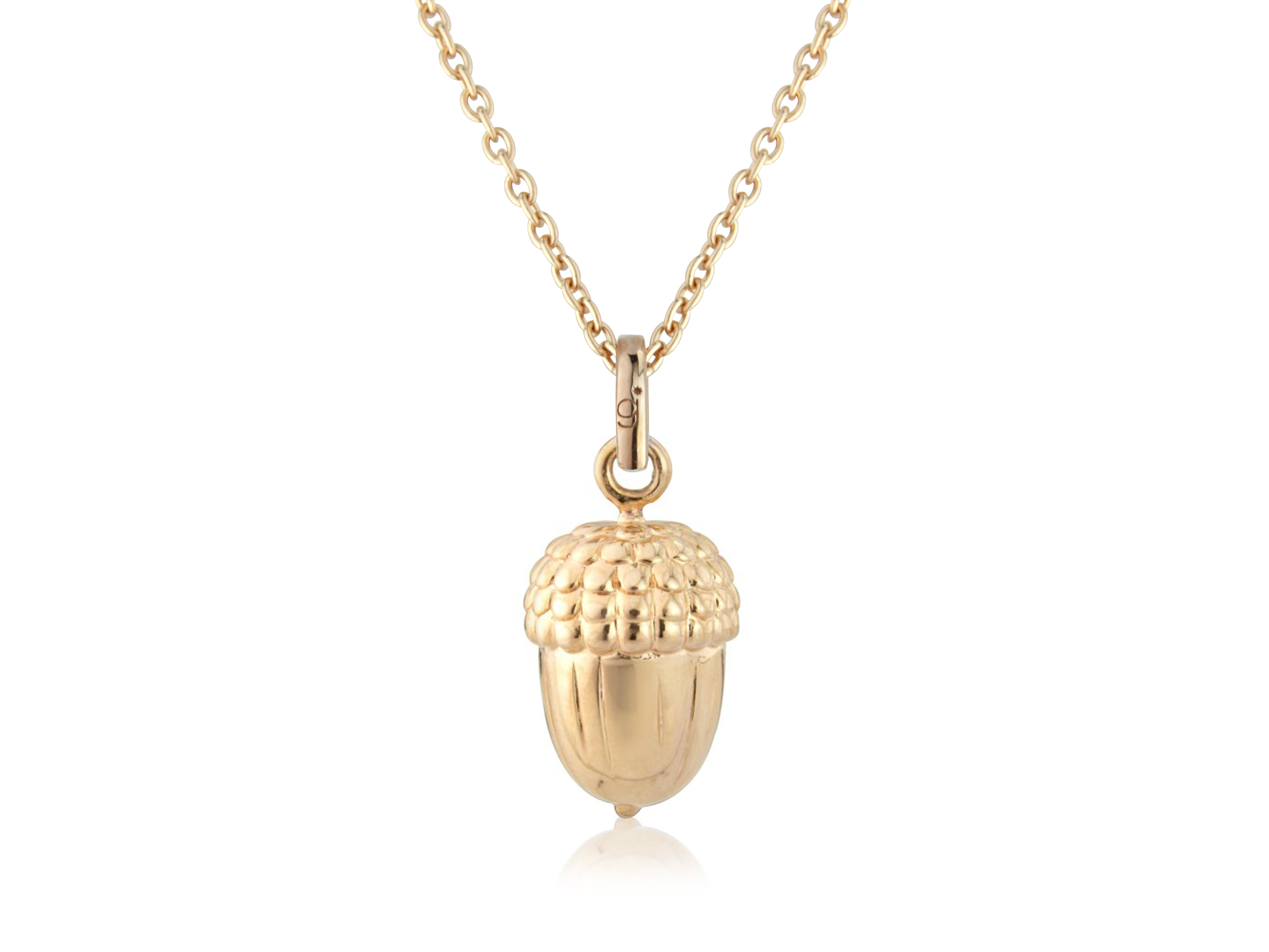 Rose Gold Acorn Pendant