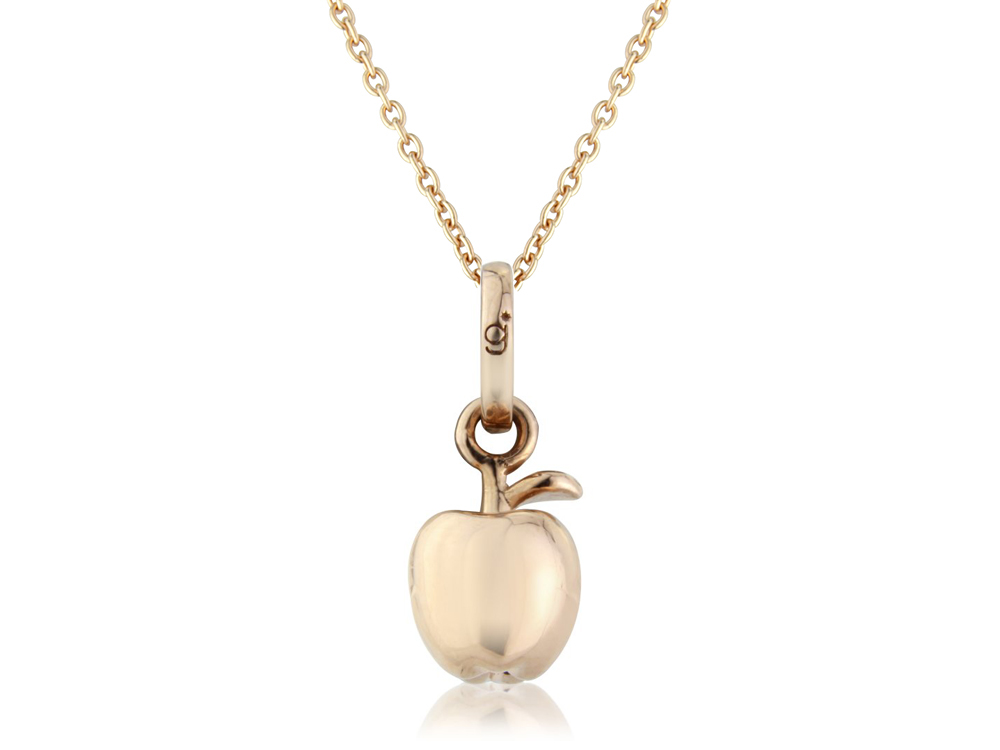 Rose gold apple charm from the gemma j country collectionmma j rose gold apple pendant mozeypictures Image collections