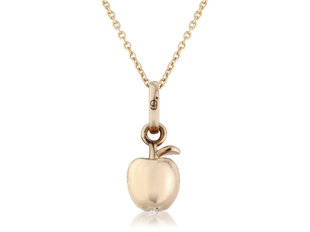 Rose gold apple pendantgemma j rose gold apple pendant aloadofball Image collections