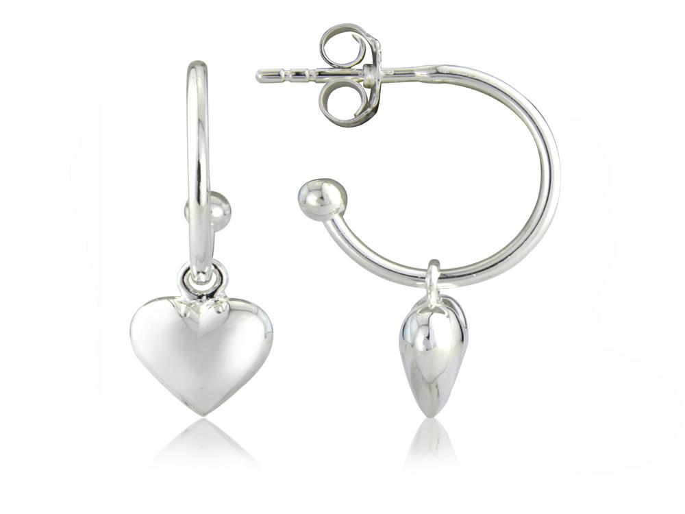 Sweetheart Hoop Earrings