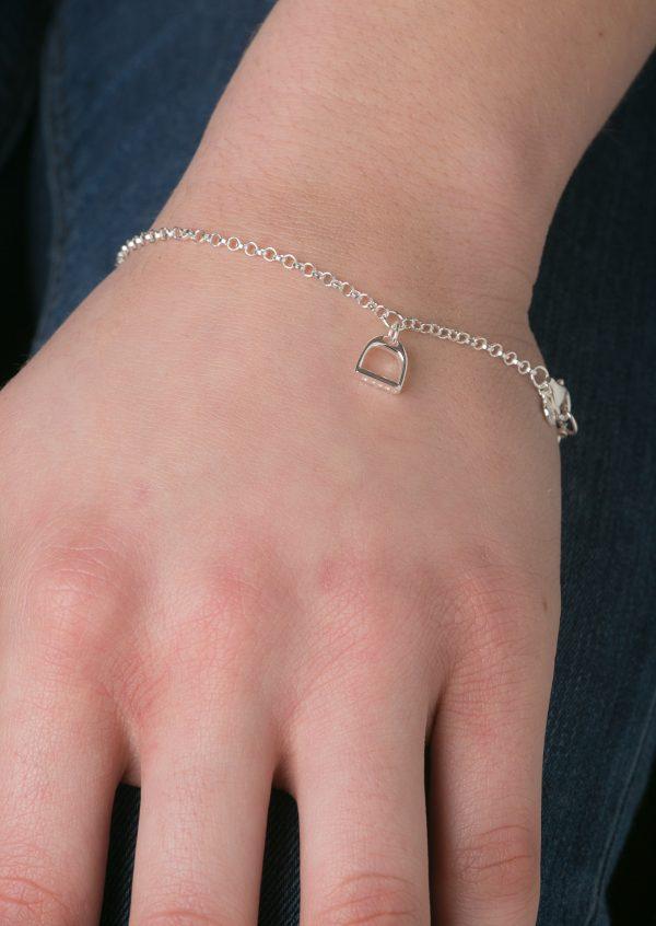 Childs Sparkly Stirrup Bracelet