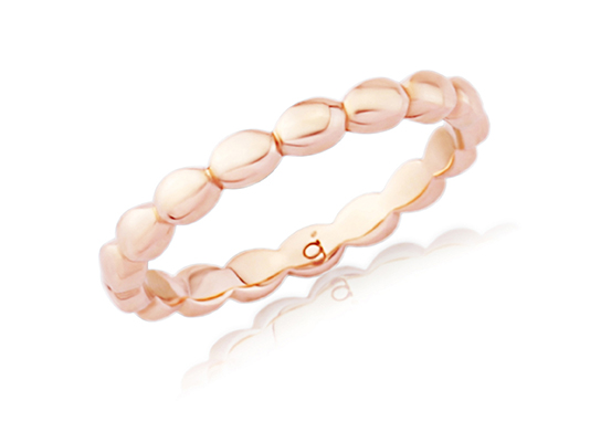 Rose Gold Pebbled Eternity Band