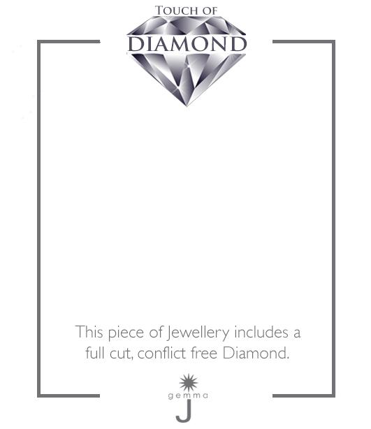 Diamond Horseshoe Charm